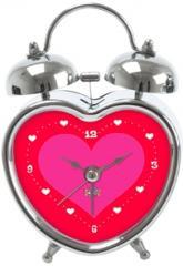 купить: Часы и будильник Будильник In Love красный, в форме сердца