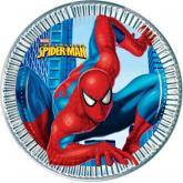 """купить: Праздничное украшение 8 бумажных тарелок """"Спайдермен"""", 23 см"""