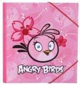 купити: Канцелярія Пластиковая папка на резинках Angry Birds, розовая