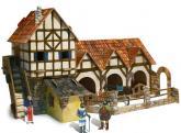 buy: Play Set Средневековый город. Конюшня. Сборная модель из картона