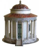 купить: Модель для сборки Храм Весты в Тиволи. Сборная модель из картона