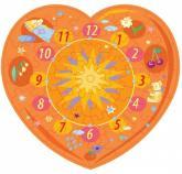 купити: Пазл Сердечко (оранжевое). Пазл-часы. Сборная игрушка