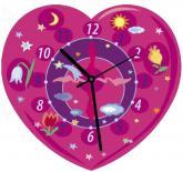 купити: Пазл Сердечко (розовое). Пазл-часы. Сборная игрушка