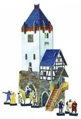 купить: Игровой набор Дозорная башня. Сборная модель из картона