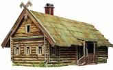 купить: Модель для сборки Кутузовская изба в Филях. Сборная модель из картона