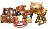 купить: Модель для сборки Детская. Коллекционный набор мебели. Сборная модель из картона