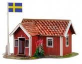 купить: Модель для сборки Шведский домик. Сборная модель из картона