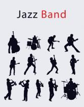 купить: Канцелярия Зошит загальний, 96 арк., клітинка, Joke - Jazz Band, 04