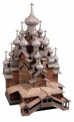 купити: Модель для збирання Церковь Преображения Господня (о.Кижи)) Сборная модель из картона. Масштаб 1:100