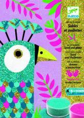 купить: Игрушка для самых маленьких Ослепительные птицы . Набор для рисования цветным песком