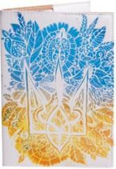 купить: Обложка Квітковий герб. Обкладинка на паспорт