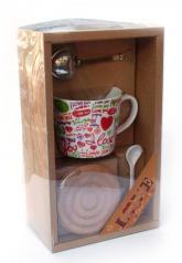 купить: Чашка и посуда Чайний набір з ситечком Love