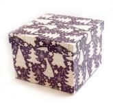 купить: Коробка Коробка для подарунків Ялинки, фіолетова 18х18х13 см