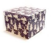 купить: Коробка Коробка для подарунків Ялинки, фіолетова 22х22х15 см