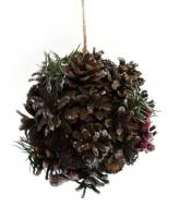 купить: Праздничное украшение Підвіска декоративна новорічна з шишок