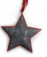 купить: Праздничное украшение Прикраса ялинкова металева Зірка