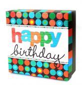 купить: Коробка Коробка для подарунків Happy birthday, M