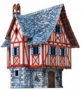 купить: Модель для сборки Дом купца. Сборная модель из картона
