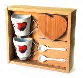 купить: Чашка и посуда Набір чашок з підставками Hearts