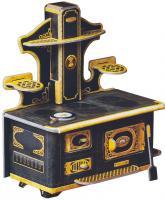 купить: Модель для сборки Набір меблів Кухонна плита. Об'ємний пазл. Матеріал: