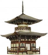 купить: Конструктор Пагода Хонпо-дзи. Сборная модель из картона