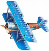 купить: Модель для сборки Самолетик (синий). Сборная модель из картона