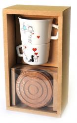 купить: Чашка и посуда Набір з чашок з підставкою Valentine