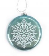 купить: Праздничное украшение Іграшка на ялинку пласка Сніжинка, блактина