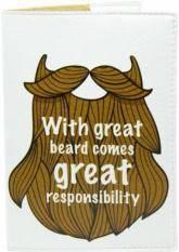 купить: Обложка Борода. Обкладинка на паспорт