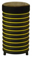 купити: Музичний інструмент Барабан жовтий із натуральної шкіри, 31х17 см