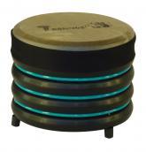 купить: Музыкальный инструмент Барабан бірюзовий із натуральної шкіри, 19х22 см