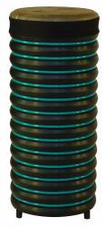 купити: Музичний інструмент Барабан бірюзовий із натуральної шкіри, 52х22 см