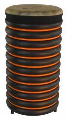 купити: Музичний інструмент Барабан помаранчевий із натуральної шкіри, 54х28 см