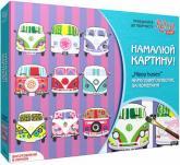 купити: Набір для творчості Hippy buses. Набір для творчості. Акриловий живопис за номерами 35х45 см