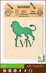 купить: Блокнот Lviv (лев). Скетчбук А6, 40 аркушів, 120г/м2 Eco
