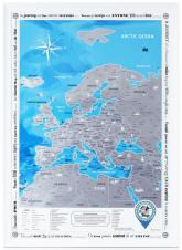 купить: Плакат Discovery Map Europe. Скретч-карта Європи в тубусі