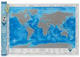 купить: Плакат Discovery Map Silver. Скретч-карта світу в тубусі