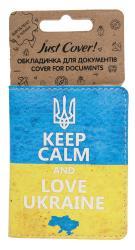 купить: Обложка Keep Calm And Love Ukraine. Обкладинка для документів