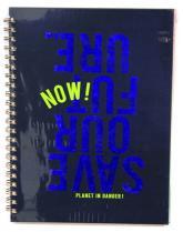 buy: Notebook Блокнот Аркуш В4,120арк, клітка, бокова спіраль, матова ламінація, тверда обкладинка картон
