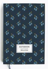 buy: Notebook Блокнот Write&Draw Blue flowers