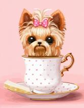 "buy: Creativity kit Набір, картина за номерами ""Cute Dog in a Cup"""
