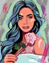 """купити: Набір для творчості Набір, картина за ном., """"Дівчина з трояндою"""", 35х"""