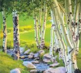 """купити: Набір для творчості Набір-стандарт, картина за номерами """"Берези"""", 35х45с"""