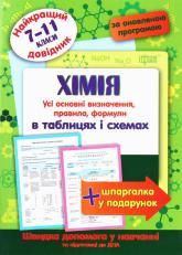 купить: Книга Хімія в таблицях і схемах. 7-11 класи
