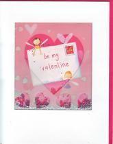 купить: Открытка ручной работы Открытка With Love: be my Valentine